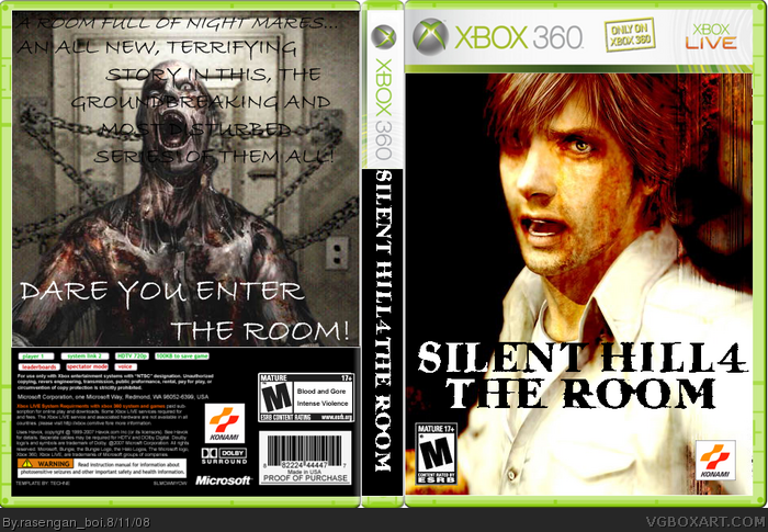 Silent Hill 4 Xbox 360 Box Art Cover By Rasengan Boi